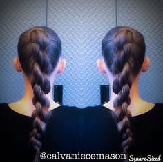 chain braid from ponytail