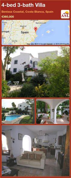 4-bed 3-bath Villa in Benissa Coastal, Costa Blanca, Spain ►€360,000 #PropertyForSaleInSpain