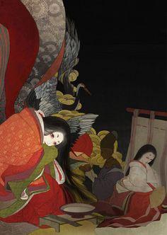 Miyoshi not feeling well--Haiku Dance mysteries of Heian period by RINrumiKA on DeviantArt