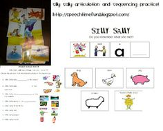 Silly Sally Articulation and Sequencing Activities -  Pinned by @PediaStaff – Please Visit http://ht.ly/63sNt for all our pediatric therapy pins