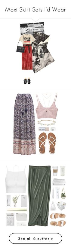 """""""Maxi Skirt Sets I'd Wear"""" by tribecalledstyle ❤ liked on Polyvore featuring Retrò, Dorothy Perkins, Mulberry, Brooks Brothers, Maiyet, thesmiths, bandtshirt, bandtee, Billabong and Givenchy"""