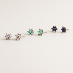 One of my favorite discoveries at WorldMarket.com: Small Flower Trio Stud Earrings, Set of 3