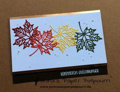 jpp - Herbstliche Geburtstagskarte / Birthday Card / fall / autumn / Herbst / Blätter / Laub / leaves / Stampin' Up! Berlin / Jahr voller Farben / Thinlits Aus jeder Jahreszeit / Flamingo Fantasie / www.janinaspaperpotpourri.de