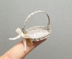 シルバニア ブライス ハンドメイド ミニチュア  ミニチュアバスケット  バスケット  ドールハウス  dollhouse  miniaturebasket  momoko  リカちゃん