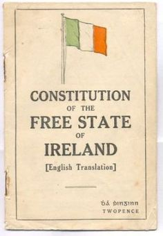 Constitution of Ireland which became independent of the UK (treaty signed in London on December The original treaty gave Ireland Dominion status, but this led to the Irish Civil War and the Republic of Ireland. Anglo Irish Treaty, Irish Celtic, Gaelic Irish, Celtic Pride, Irish Free State, Irish Independence, Irish Roots, Irish American, Family Roots