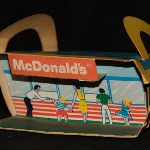 From the Archives: the original façade of McDonald's restaurants (in cardboard form)    #mcdonalds #McDonald's #nostalgia
