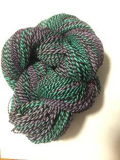 Handspun, hand dyed alpaca yarn