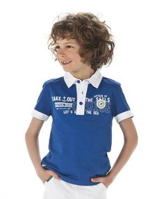 Polo garçon bleu manches courtes - Polo, T-Shirt Mode Enfant garçon Terre de Marins