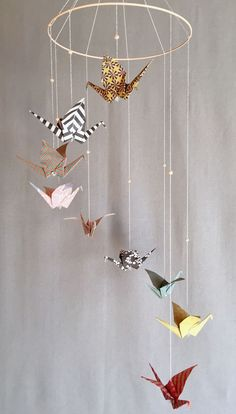 Etsy - Buy handmade, vintage, personalized and unique gifts for everyone, Diy Origami, Origami Ball, Origami Garland, Origami Toys, Origami Gifts, Cute Origami, Paper Crafts Origami, Paper Crane Mobile, Mobiles