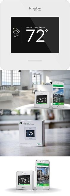 Programmable Thermostats 115949: Schneider Electric Wiser Air Wi-Fi Smart Thermostat With Comfort Boost- White... -> BUY IT NOW ONLY: $99.75 on eBay!