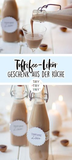 Homemade toffifee liqueur: gift from the kitchen! Ketchup, Chutney, Sauce Barbecue, Liqueur, Calories, Vegan Recipes, Food And Drink, Homemade, Cooking