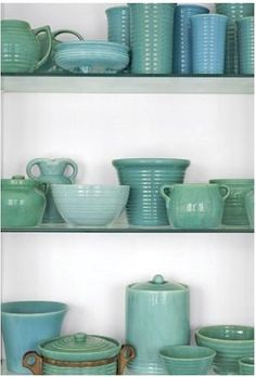 pottery. LOVE. THOSE. COLORS.