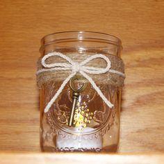 Rustic Wedding / Mason Jar Wedding Votive Candle Holder / Mason Jar Candle Holders, Votive Candles, Rustic Wedding, Our Wedding, Woodland Wedding, Wedding Ideas, Wedding Anniversary Gifts, Wedding Gifts, Save The Date Magnets