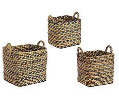 Набор из 3 корзин Ciotola - водяной гиацинт