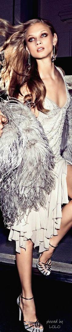 Anna Selezneva by Alexi Lubomirski for Harper's Bazaar US August 2014