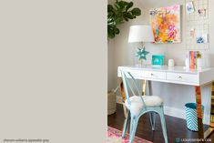 Agreeable Gray - one of the 6 Best Paint Colors for Walls, Trim, Cabinets, and All-Around Awesomeness from Lesley Myrick Art + Design