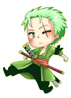 One Piece zorro chibi