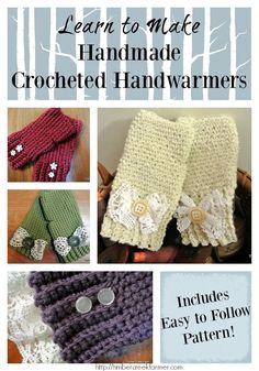 Handmade crocheted handwarmers: