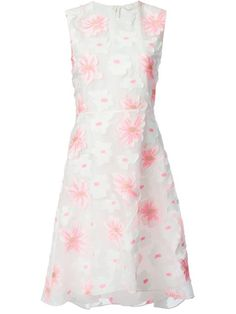 Chloé Appliqué Flower Dress - Eraldo - Farfetch.com