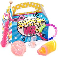 PartyBell.com - Superhero Girl Filled Party #FavorBox
