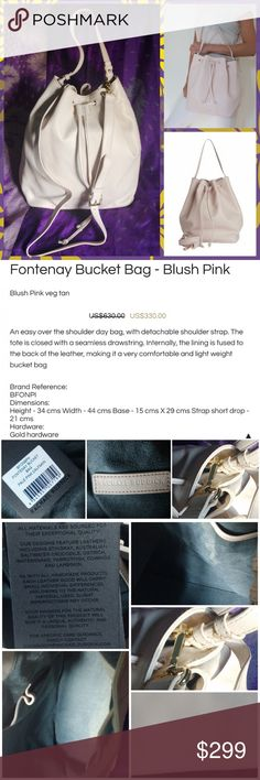 🆕! Rachel Ruddick Blush PINK Leather Bucket Bag Supple leather bag with short handle as well as a removable crossbody strap that is adjustable. Single interior compartment has 2 slip pockets. 100% leather. Gold hardware. Imported from Australia.  💞Thanks for browsing my closet!💞 Rachael Ruddick Bags Crossbody Bags