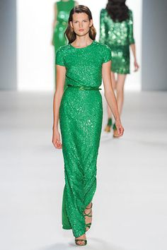 Elie Saab Spring 2012 Collection (Zoe Saldana killed it in this at the 12th Annual Latin Grammy Awards. Photo here: http://tinyurl.com/zoegreen)