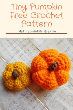 Free Tiny Pumpkin Crochet Pattern - my fav' for adding catnip.