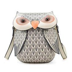 Cartoon Owl Shape Shoulder Bag Creative Crossbody Bag Phone Bag is designer, see other cute bags on NewChic. Couture Handbags, Purses And Handbags, Hobo Bag, Backpack Bags, Owl Purse, Crossbody Messenger Bag, Girls Bags, Mini Purse, Clutch Wallet