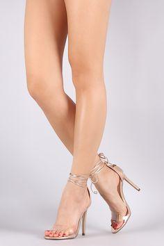 Liliana Metallic Lucite Ankle-Tie Open Toe Stiletto Heel #ladiesfashion #ladiesboots #casualdresses #ladiestop #womensfashion #womenshoes #womenboots