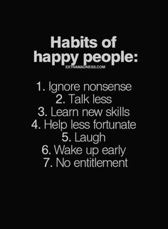 7 Habits of Happy People - Habits for a happier life