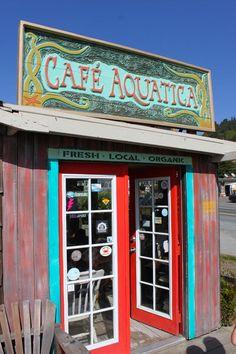 Cafe Aquatica - fantastic coffee and friendly staff!  Jenner, CA