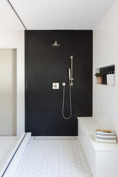 A Large Master Bathroom Designed with Personality - Bathroom Ideas Bathroom Tile Designs, Bathroom Renos, Bathroom Interior Design, Modern Interior Design, Modern Interiors, Latest Bathroom Designs, Remodel Bathroom, Budget Bathroom, Modern Shower