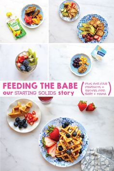 Feeding the Babe: Our Starting Solids Story (plus our favorite products + recipes for baby + mama) from @thepigandquill (via thepigandquill.com) in partnership with @QSquaredNYC #babyledweaning #blw #babyfood