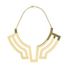 Gold Collar Necklace by Maria Piana, Designer Designers Jewellery, Kabiri Jewellery Store Online