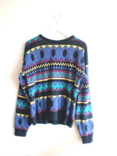 "sweaters ... Love for those bright ""Bill Cosby-ish"" looking sweaters"