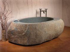Stone Forest Natural Bathtub Starts at $14,000 由一整塊天然原石打造,搭配古樸的水龍頭設計,東方的禪韻味呼之欲出。每一個浴缸的尺寸都依照石材的原始面貌量身打造,各不相同。