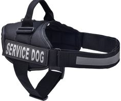 BINGPET Nylon Comfort Reflective Service Dog Harness Adjustable Vest Come With 2 Removable Patches >>> To view further, visit now : Cat accessories