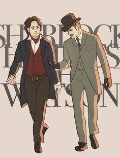 """Sherlock Holmes and John Watson"" by Hallpen. Oh! I just LOVE this. Love love love love."