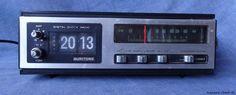 Retro Vintage Flip Clock Radio, Alarm, Transistor, Woodgrain, Works