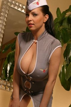 Super sexy Polish stewardess Ewa Sonnet