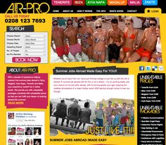 Website Design for regular client Air-Pro Working Holidays
