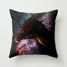 I am FIRE. I am DEATH. Throw Pillow by SUIamena - $20.00