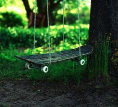 Upcycled Skateboard Swing