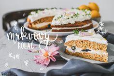 Carrot cake s kokosom - najlepšia mrkvová torta - Red velvet blog Kefir, Carrot Cake, Red Velvet, Hamburger, Carrots, Bread, Blog, Mascarpone, Brot