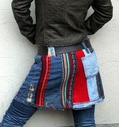Reserved for Malia Storey M-L mini skirt recycled von jamfashion