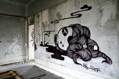 Street art by BLO (www.widewalls.ch/artist/blo)