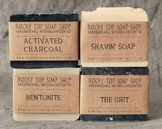 Manly Man Soap Set Get back to basics with this set of handmade, all-natural, and unscented soap bars from Rocky Top Soap Shop. Made for men by men, this is the kind of soap you need to wash up with after spending a day chopping down trees. Unscented Soap, Glycerin Soap, Savon Soap, Mens Soap, Soap Shop, Fathers Day Sale, Vegan Soap, Cold Process Soap, Soap Recipes