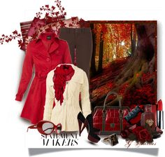 """""""Red Fall Day"""" by gaburrus on Polyvore"""