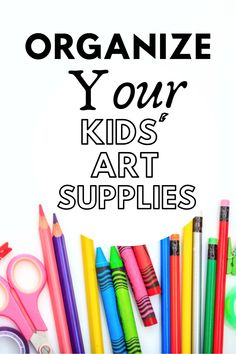 My kids' art supplies were out of control. Here are some easy steps to declutter and organize so your kids can find what they need. #kidsartsupplies #kidorganization Declutter Your Home, Organizing Your Home, Our Kids, Art For Kids, Home Organisation Tips, Decluttering Ideas, Getting Rid Of Clutter, Chore List, Art Supplies