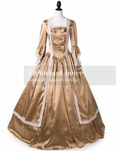 Marie Antoinette Georgian Style Satin Prom Period Dress Ball Gown  Reenactment Theater Costume Gothic Victorian Dresses dcb65929f7c4